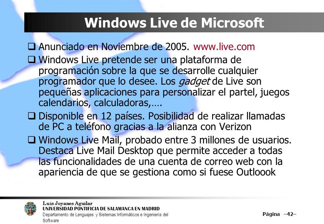 Windows Live de Microsoft