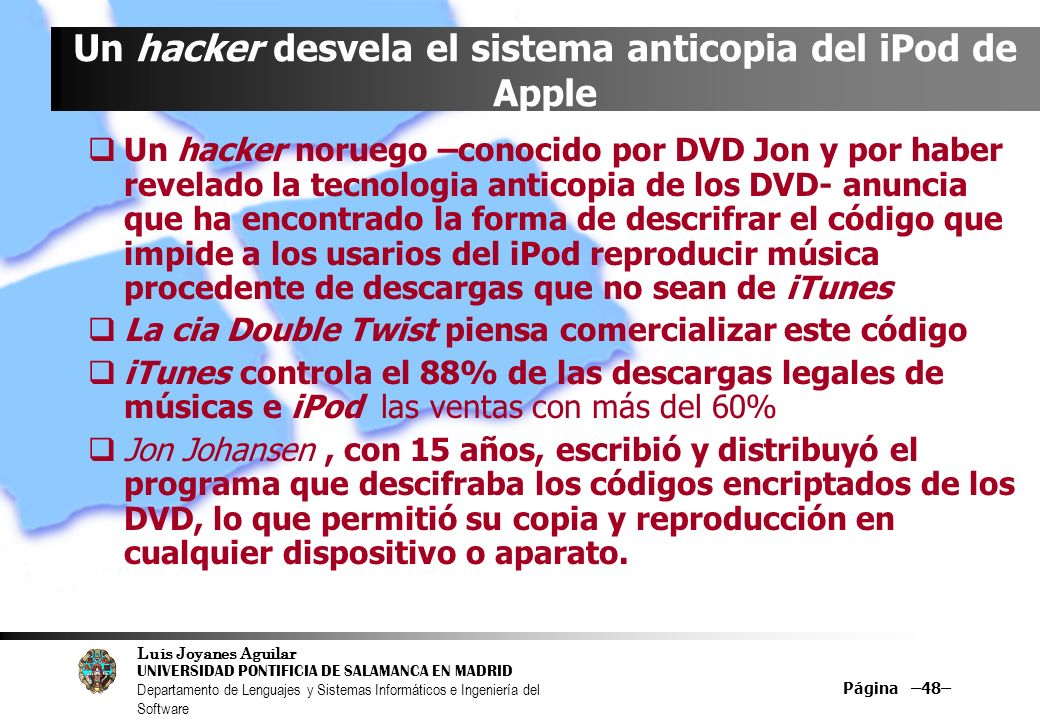Un hacker desvela el sistema anticopia del iPod de Apple