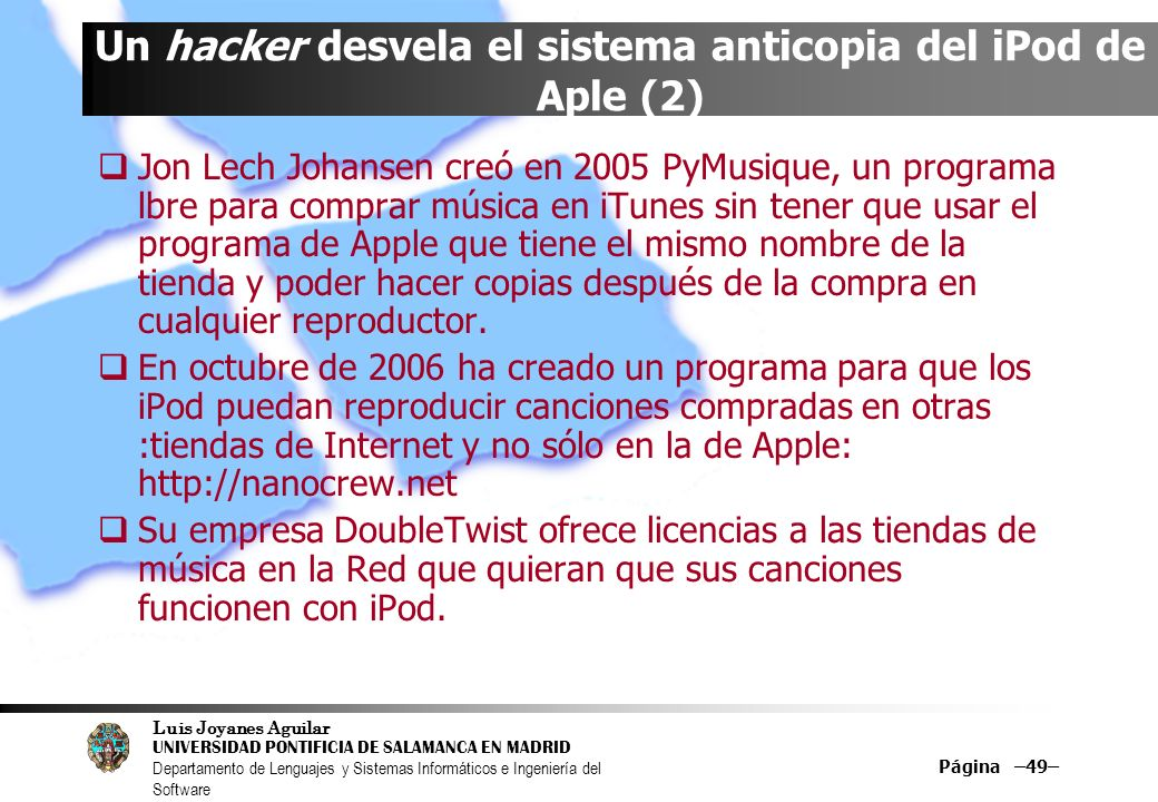 Un hacker desvela el sistema anticopia del iPod de Aple (2)