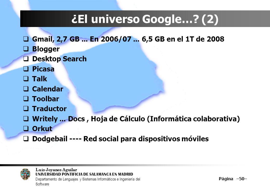 ¿El universo Google… (2)