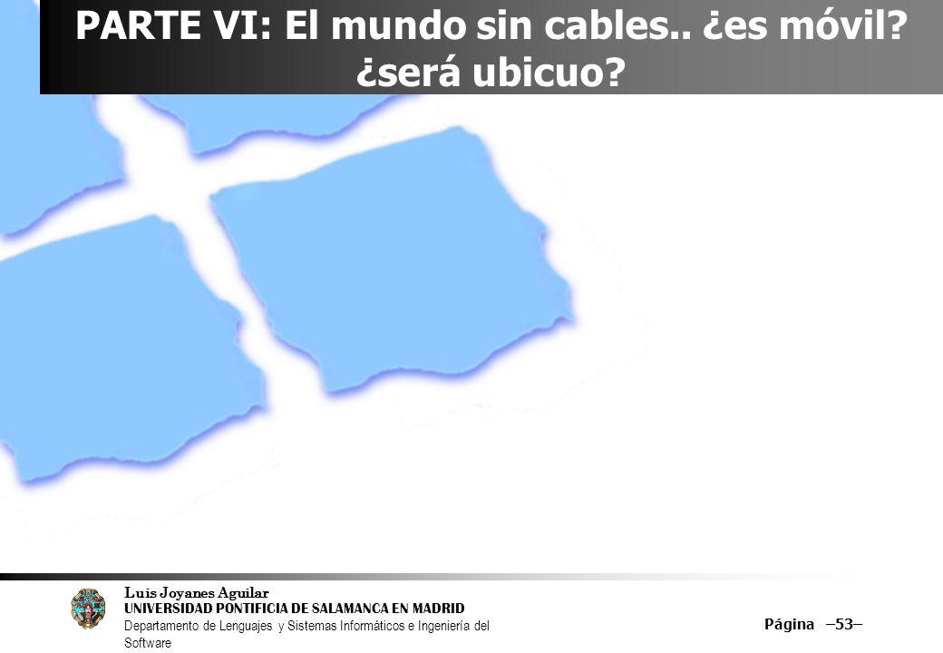 PARTE VI: El mundo sin cables.. ¿es móvil ¿será ubicuo