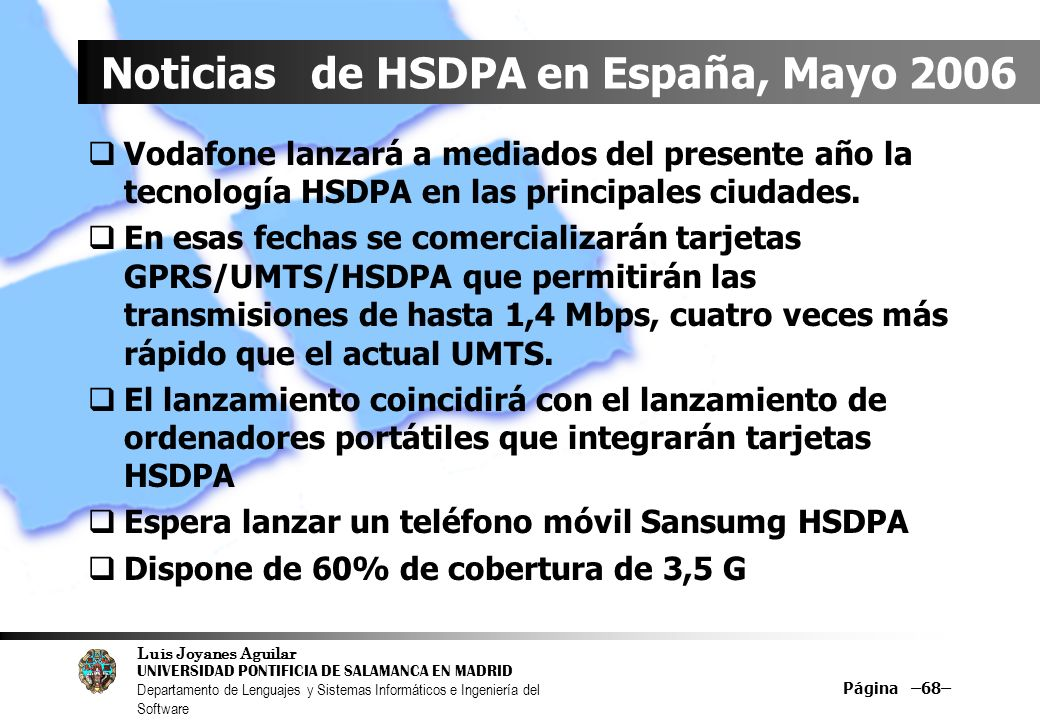 Noticias de HSDPA en España, Mayo 2006