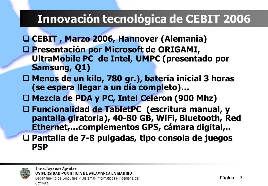 Innovación tecnológica de CEBIT 2006