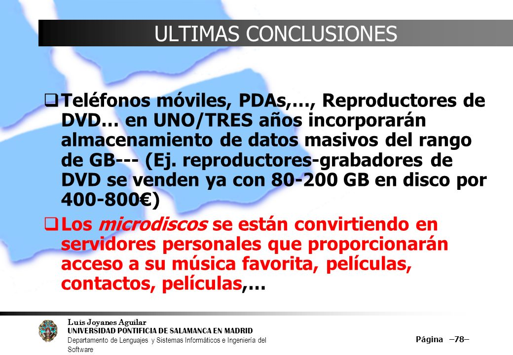 ULTIMAS CONCLUSIONES