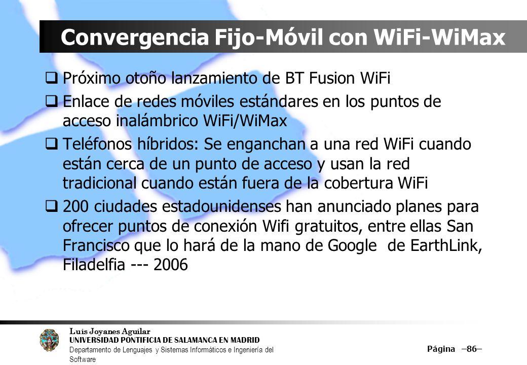 Convergencia Fijo-Móvil con WiFi-WiMax