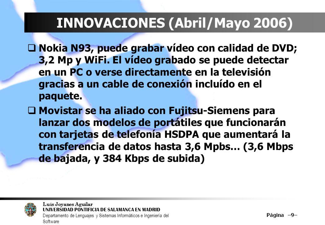 INNOVACIONES (Abril/Mayo 2006)