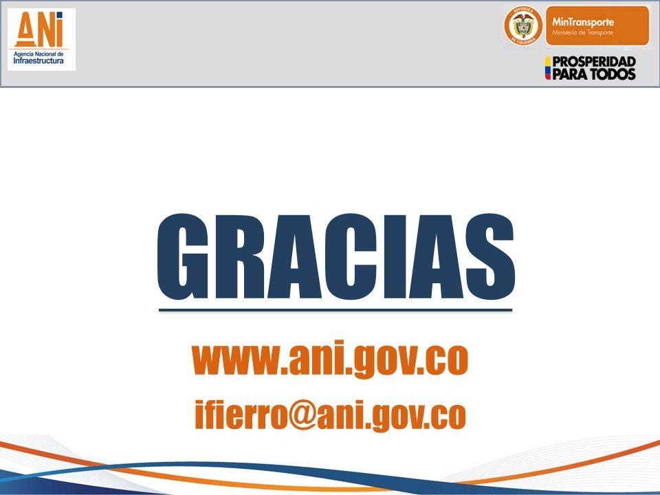 GRACIAS www.ani.gov.co ifierro@ani.gov.co