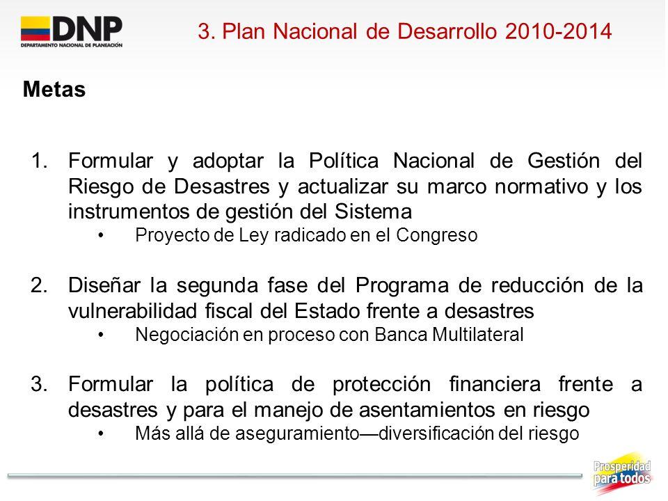 3. Plan Nacional de Desarrollo 2010-2014