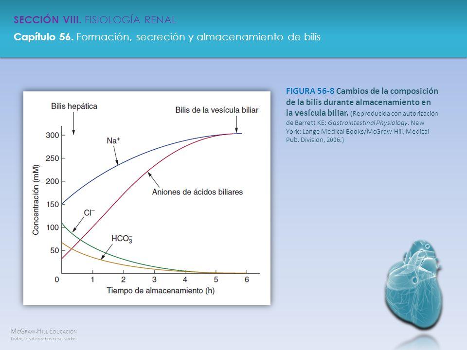 FIGURA 56-8 Cambios de la composición de la bilis durante almacenamiento en la vesícula biliar.
