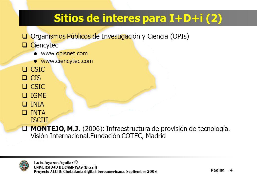 Sitios de interes para I+D+i (2)
