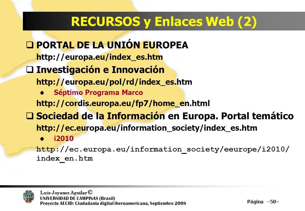 RECURSOS y Enlaces Web (2)