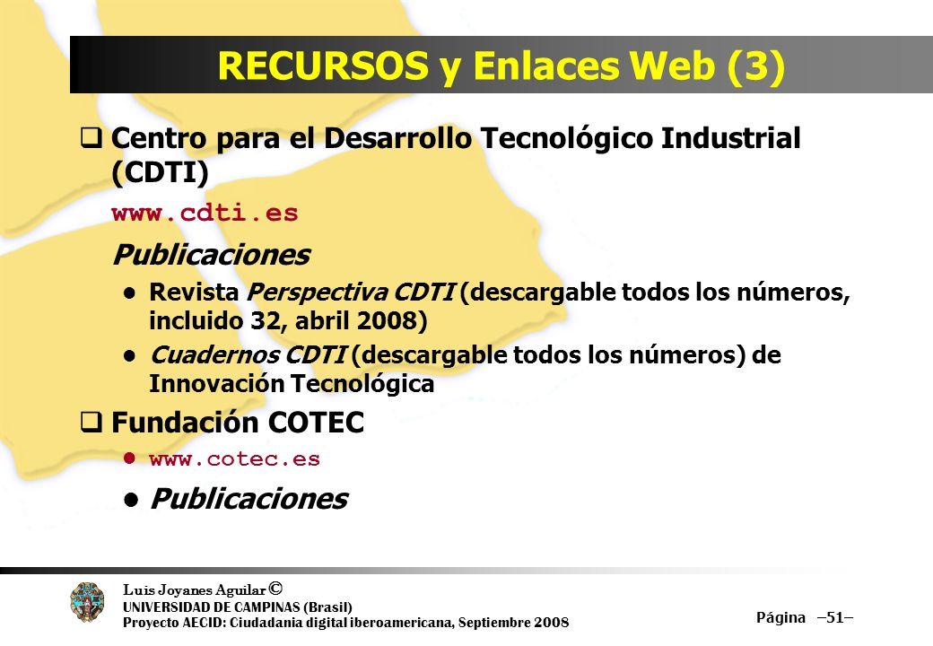 RECURSOS y Enlaces Web (3)