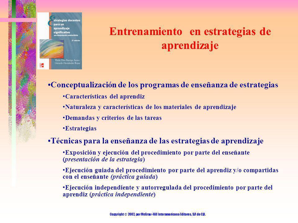 Entrenamiento en estrategias de aprendizaje