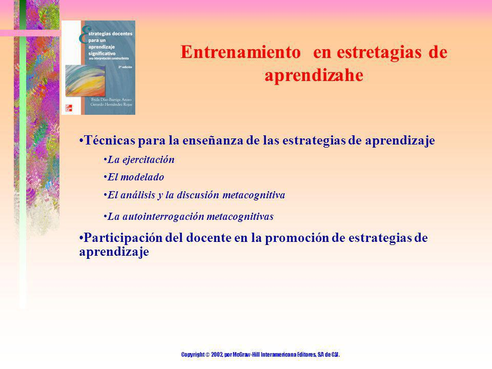 Entrenamiento en estretagias de aprendizahe