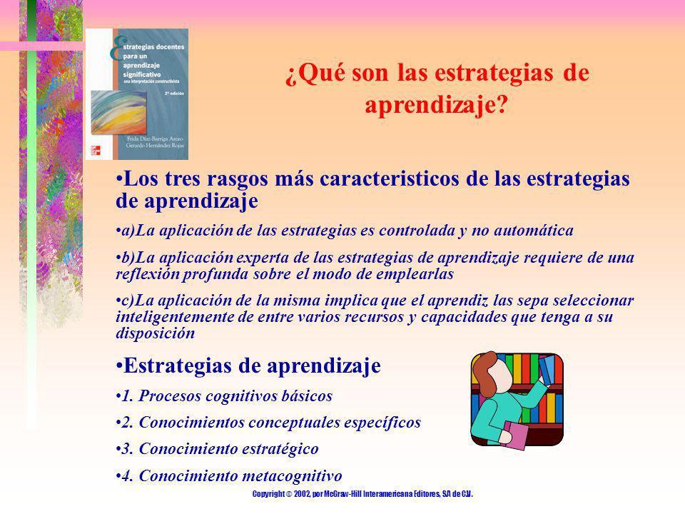 ¿Qué son las estrategias de aprendizaje