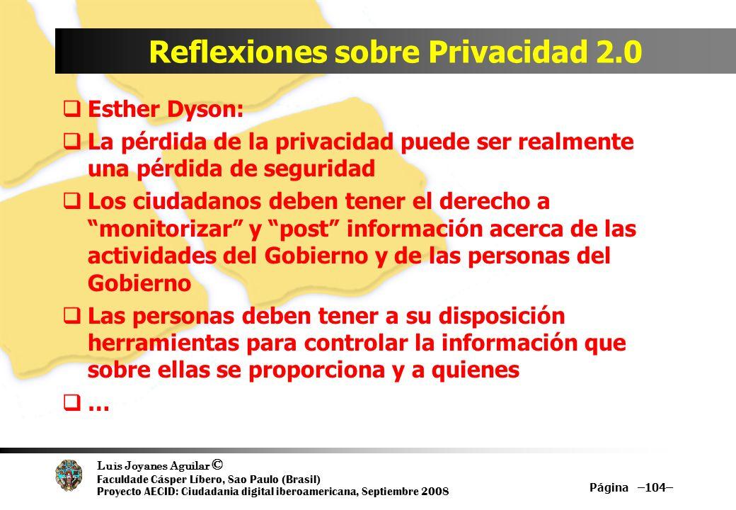 Reflexiones sobre Privacidad 2.0