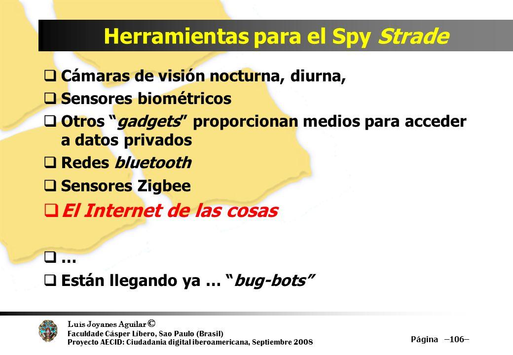 Herramientas para el Spy Strade