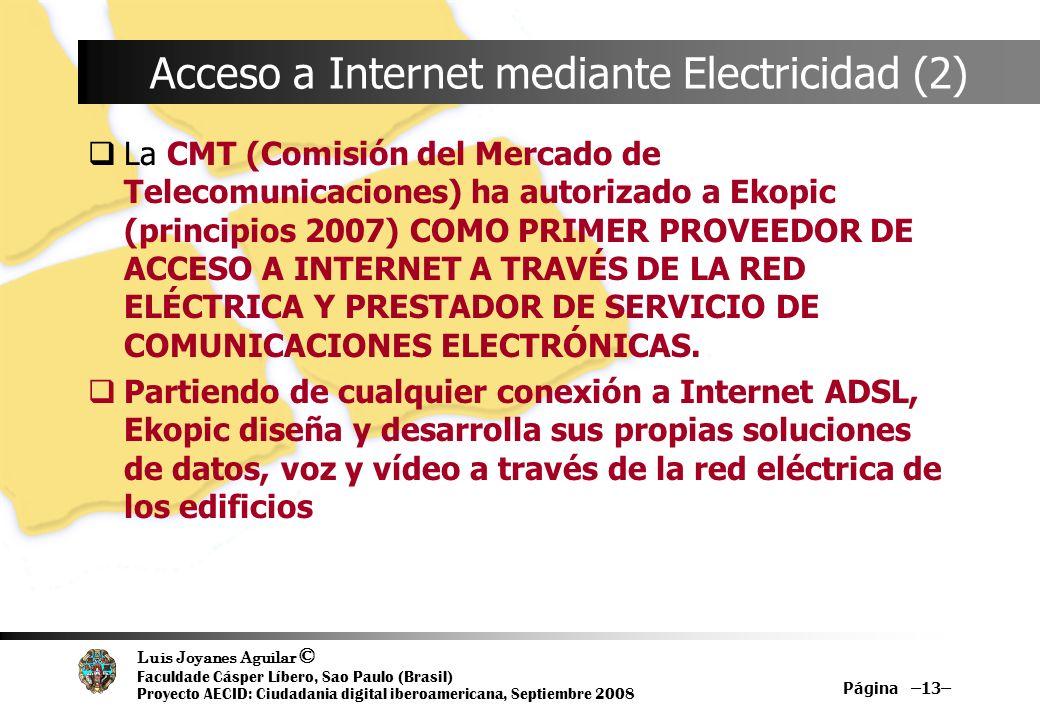Acceso a Internet mediante Electricidad (2)