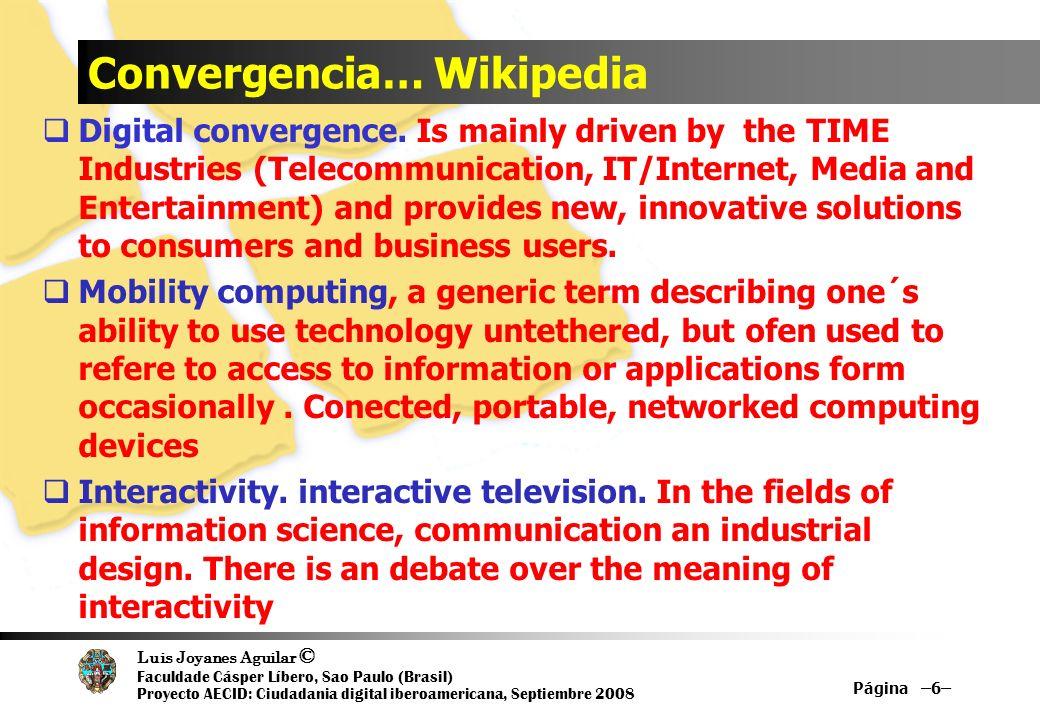 Convergencia… Wikipedia