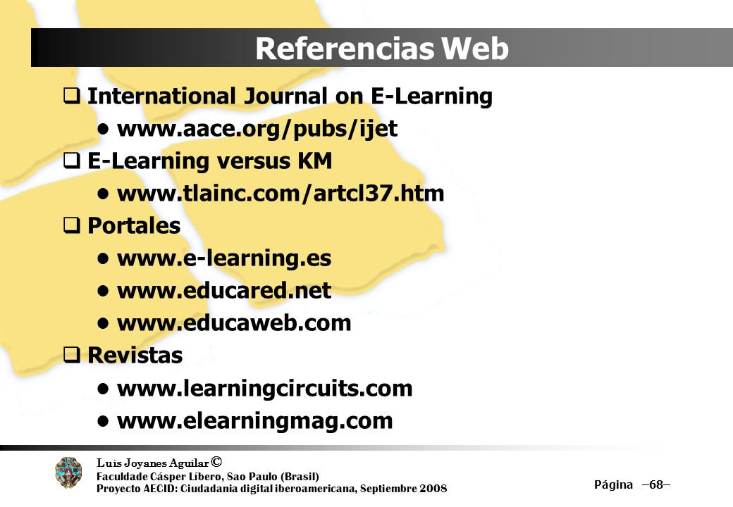 Referencias Web International Journal on E-Learning