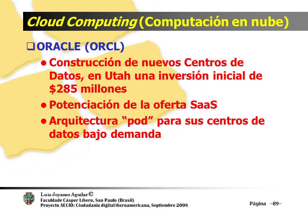 Cloud Computing (Computación en nube)