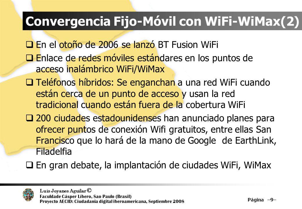 Convergencia Fijo-Móvil con WiFi-WiMax(2)