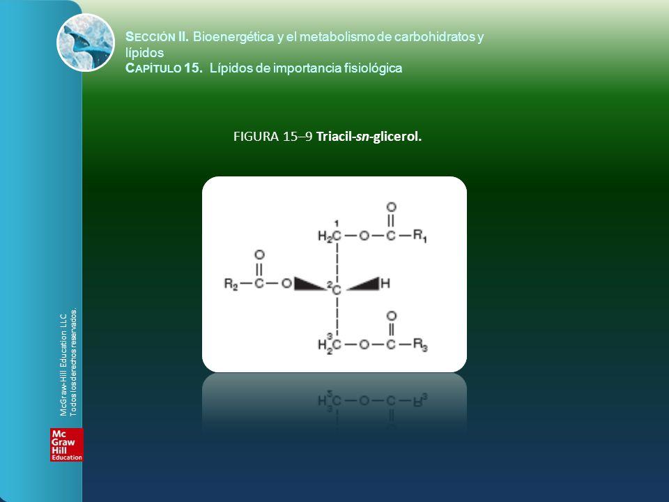 FIGURA 15–9 Triacil-sn-glicerol.