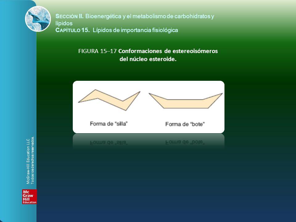 FIGURA 15–17 Conformaciones de estereoisómeros