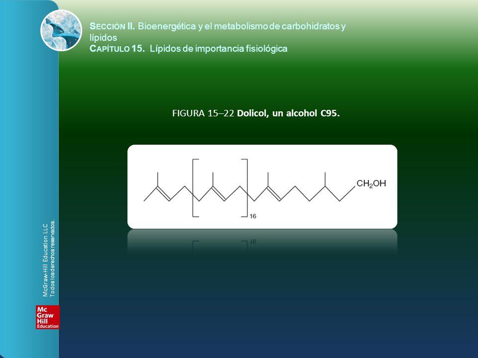 FIGURA 15–22 Dolicol, un alcohol C95.