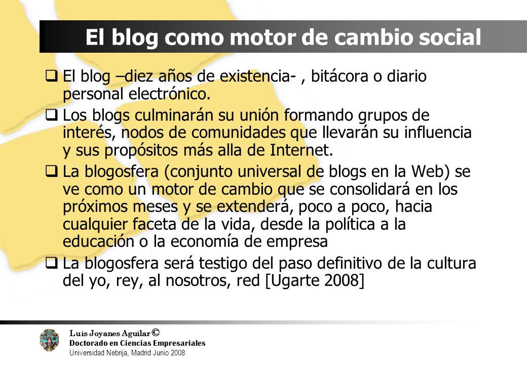 El blog como motor de cambio social
