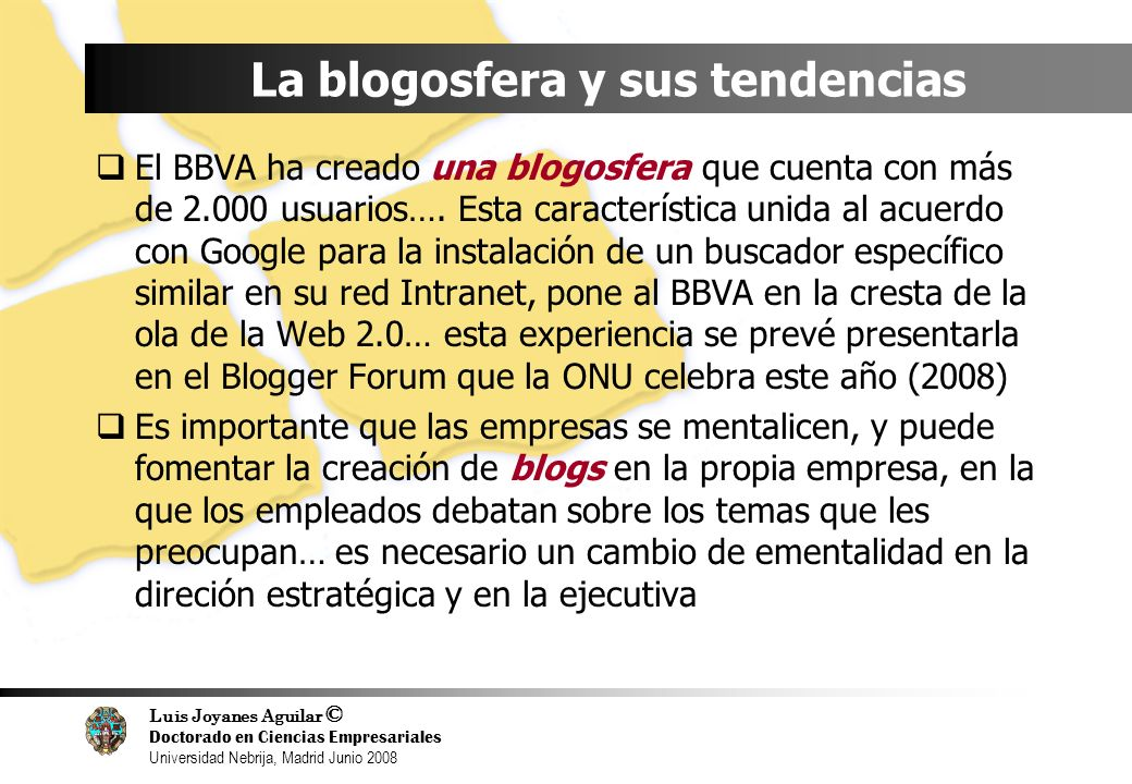 La blogosfera y sus tendencias