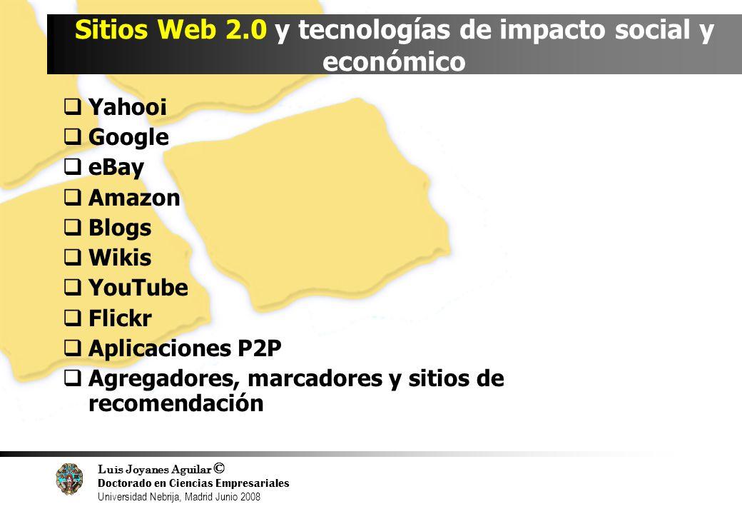 Sitios Web 2.0 y tecnologías de impacto social y económico