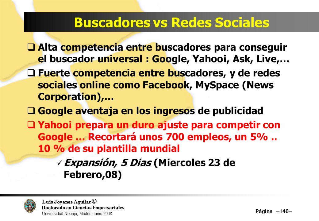 Buscadores vs Redes Sociales