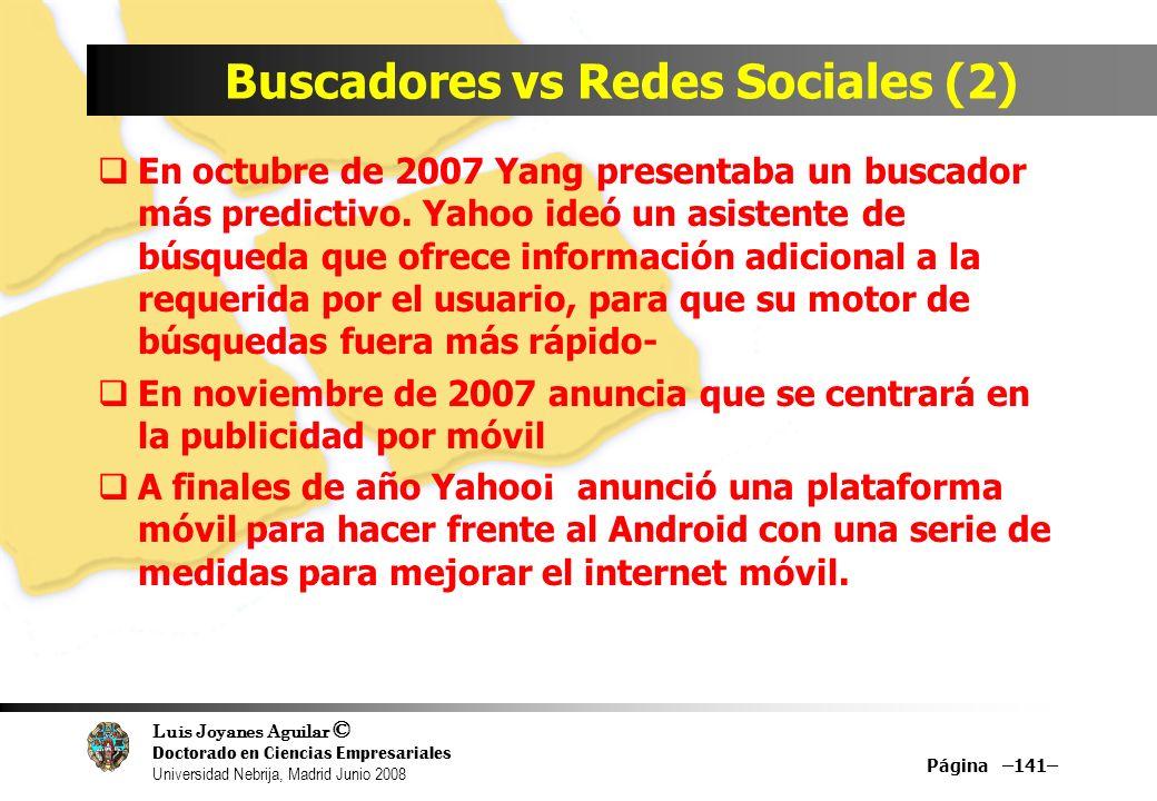 Buscadores vs Redes Sociales (2)