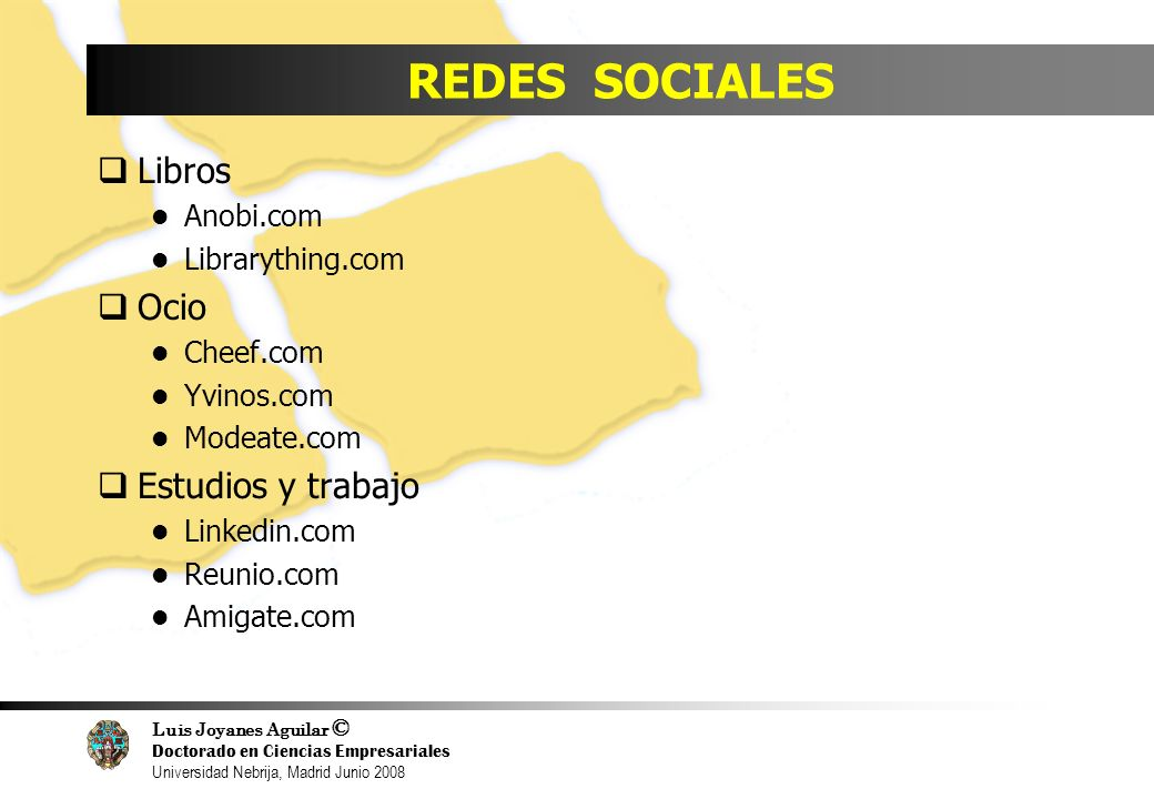 REDES SOCIALES Libros Ocio Estudios y trabajo Anobi.com