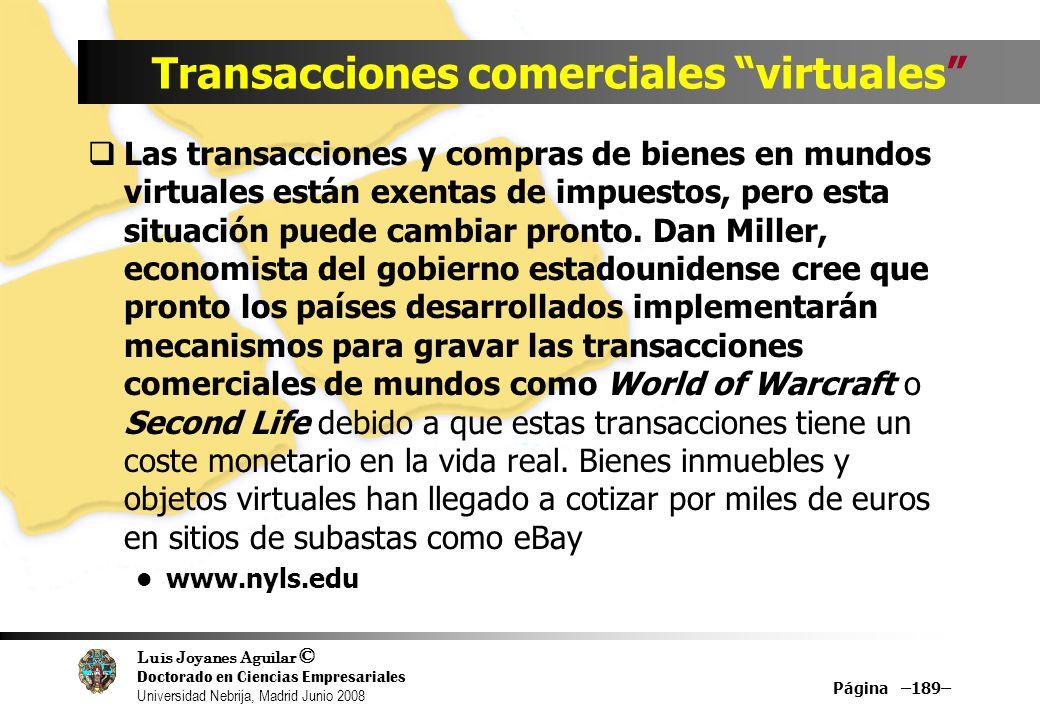 Transacciones comerciales virtuales