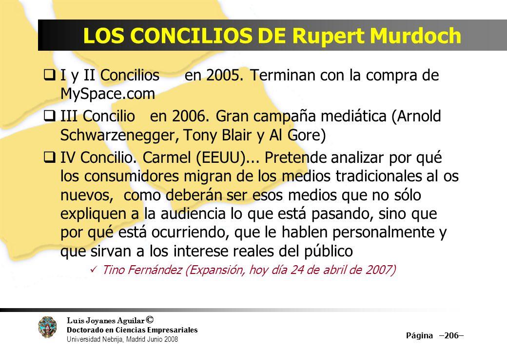 LOS CONCILIOS DE Rupert Murdoch