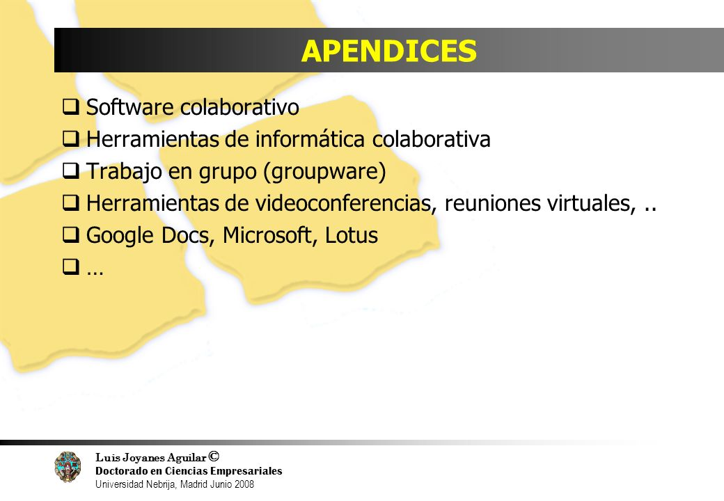 APENDICES Software colaborativo