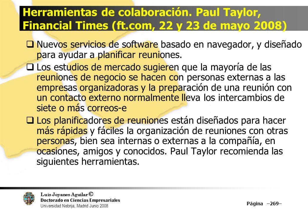 Herramientas de colaboración. Paul Taylor, Financial Times (ft