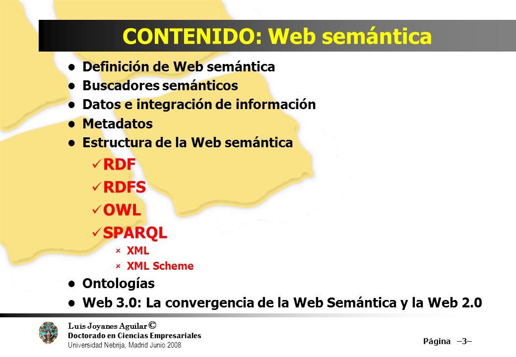 CONTENIDO: Web semántica
