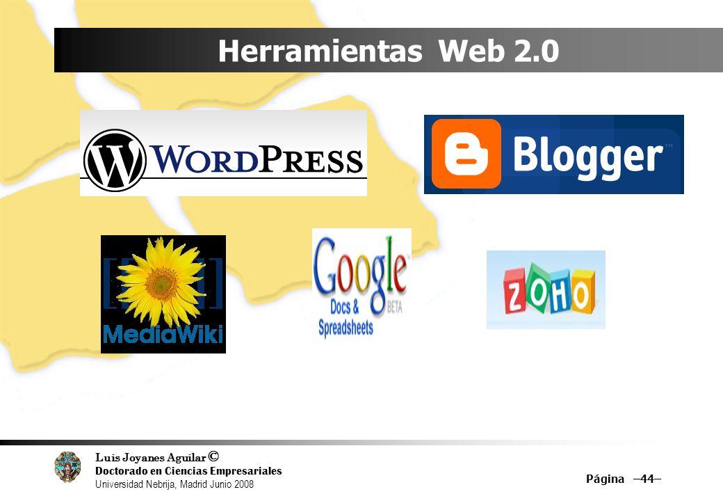 Herramientas Web 2.0 Página –44–