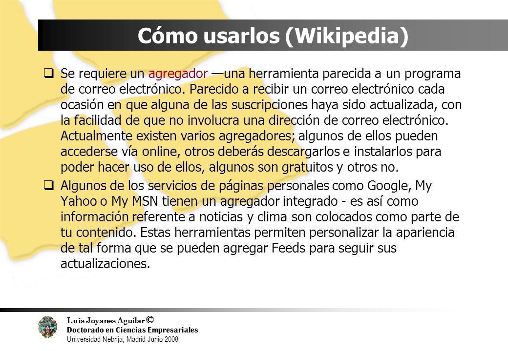 Cómo usarlos (Wikipedia)