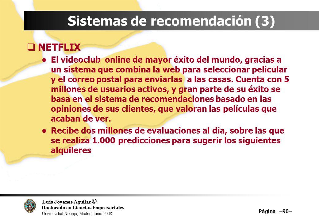 Sistemas de recomendación (3)
