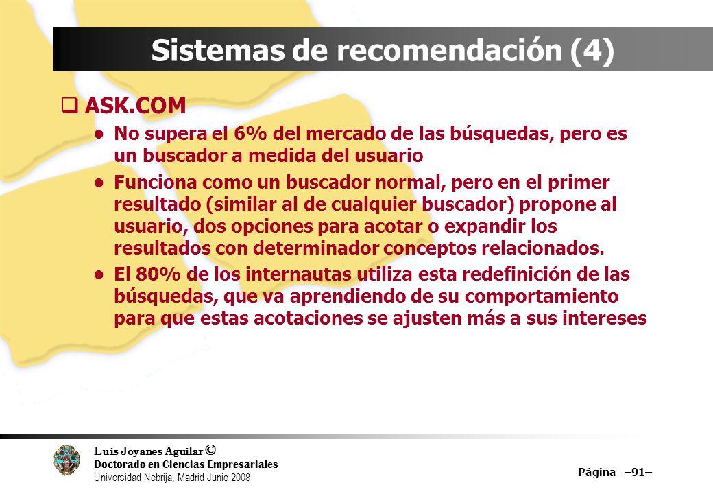 Sistemas de recomendación (4)
