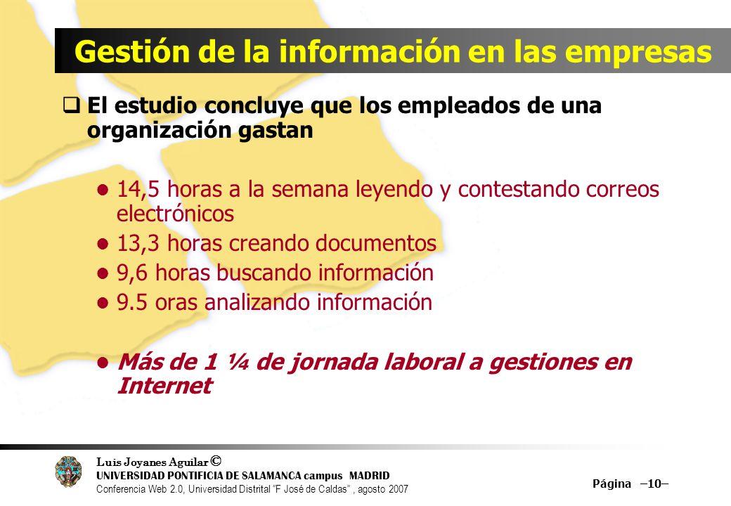 Gestión de la información en las empresas