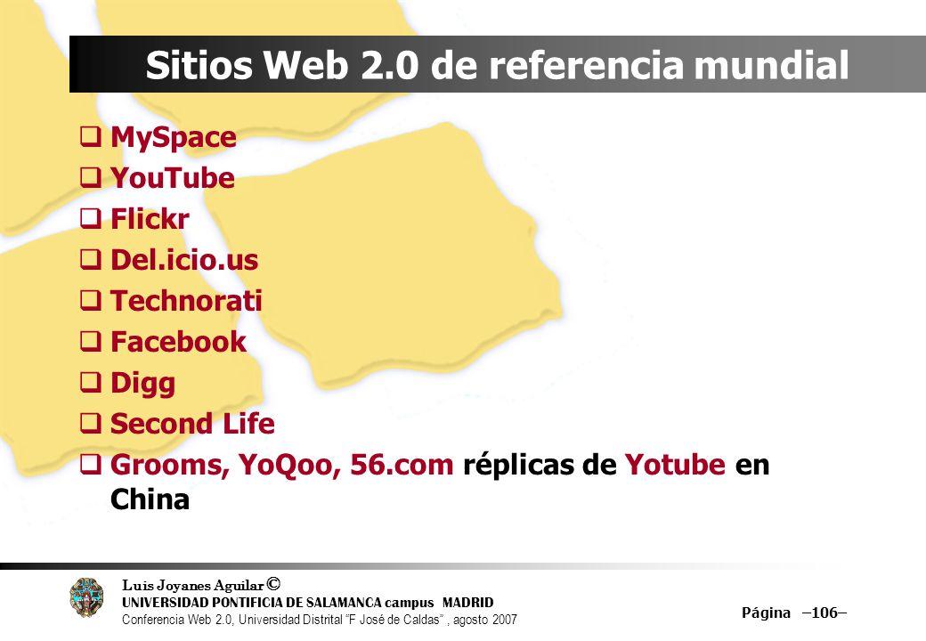 Sitios Web 2.0 de referencia mundial