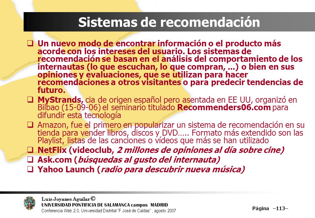 Sistemas de recomendación