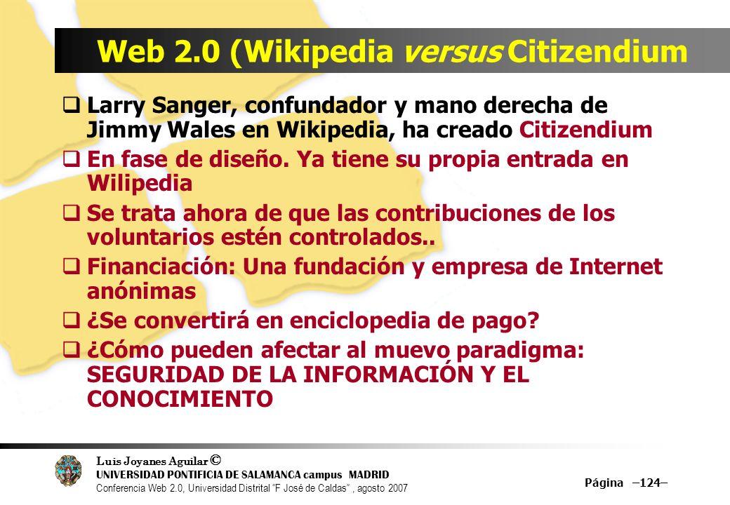 Web 2.0 (Wikipedia versus Citizendium