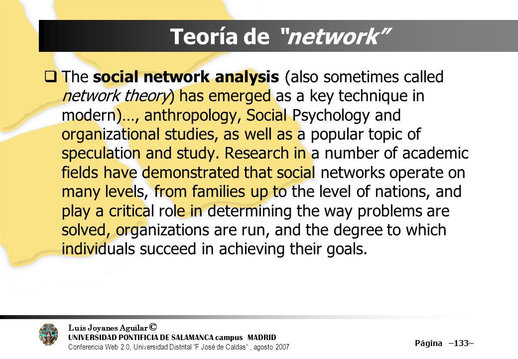 Teoría de network