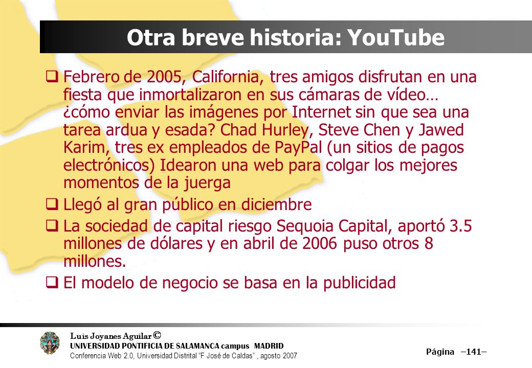 Otra breve historia: YouTube